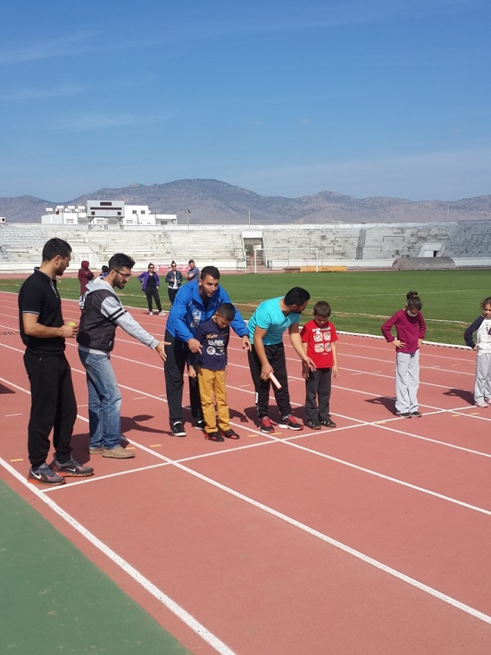 NEU BESYO Students Get To Athletics Track With Children Suffering From Leukemia