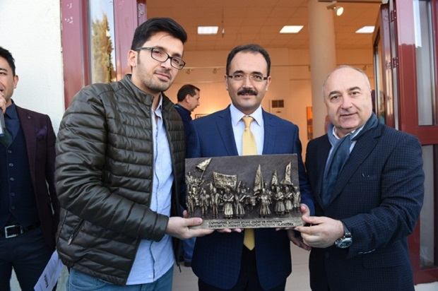 """With Us"" joined-exhibition was opened in Uşak"
