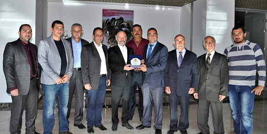 Executive Committee of Paphos Turkish Union pays visit to Dr. Suat İ. Günsel, Founding Rector of NEU