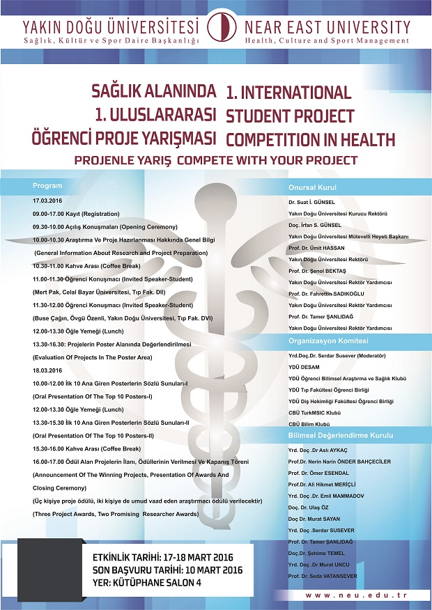 NEU 1. International Student Project Competition In Health