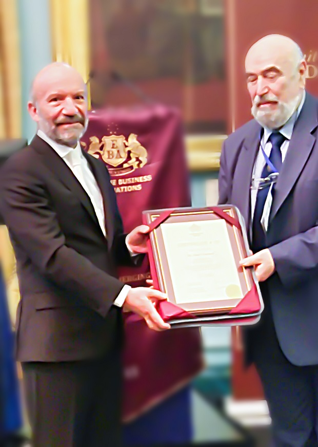 Founding Rector of Near East University Dr. Suat İ. Günsel has been awarded the Queen Victoria Commemorative Medal Award and has been promoted as the Regional Leader of the Mediterranean Region