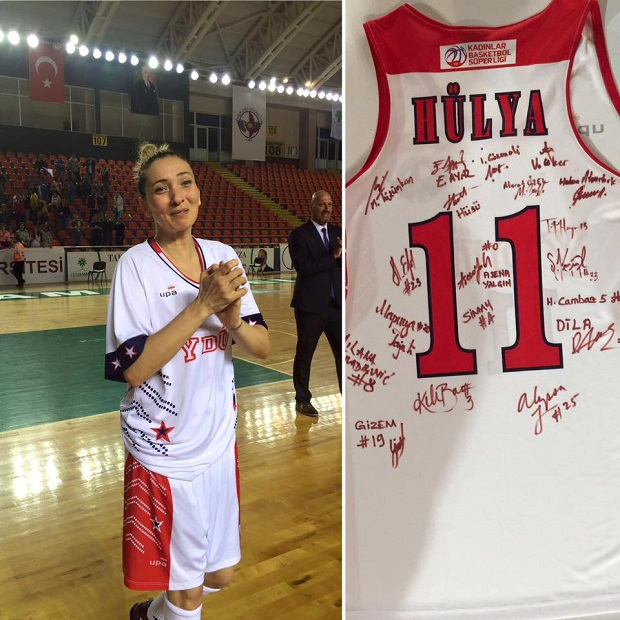 Hülya Özkan, player of Near East University Women's Basketball Team, bids farewell to basketball
