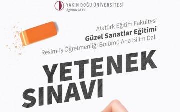 YDÜ Atatürk Eğitim Fakültesi Güzel Sanatlar Fakültes, Resim-İş Öğretmenliği Anabilim Dalına Özel Yetenek Sınavı ile Öğrenci Alınacaktır