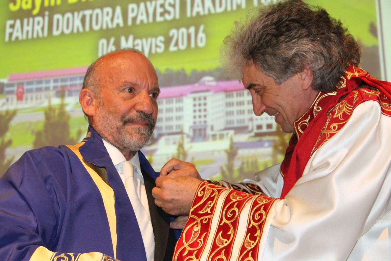 Dr. Suat İ. Günsel, Founding Rector of Near East University, awarded with Honorary Doctorate