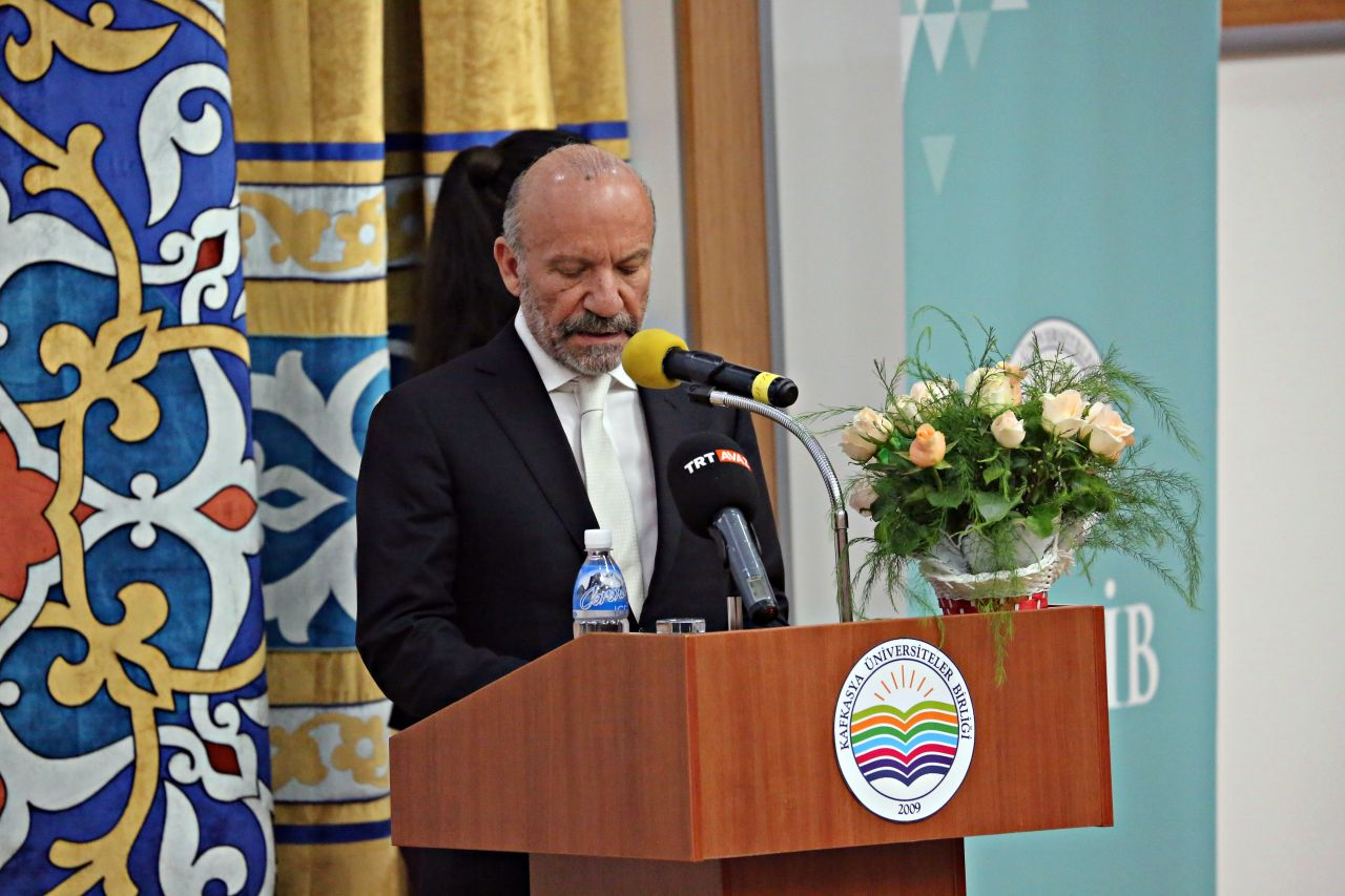 Near East University Founding Rector Dr. Günsel spoke at KUNIB