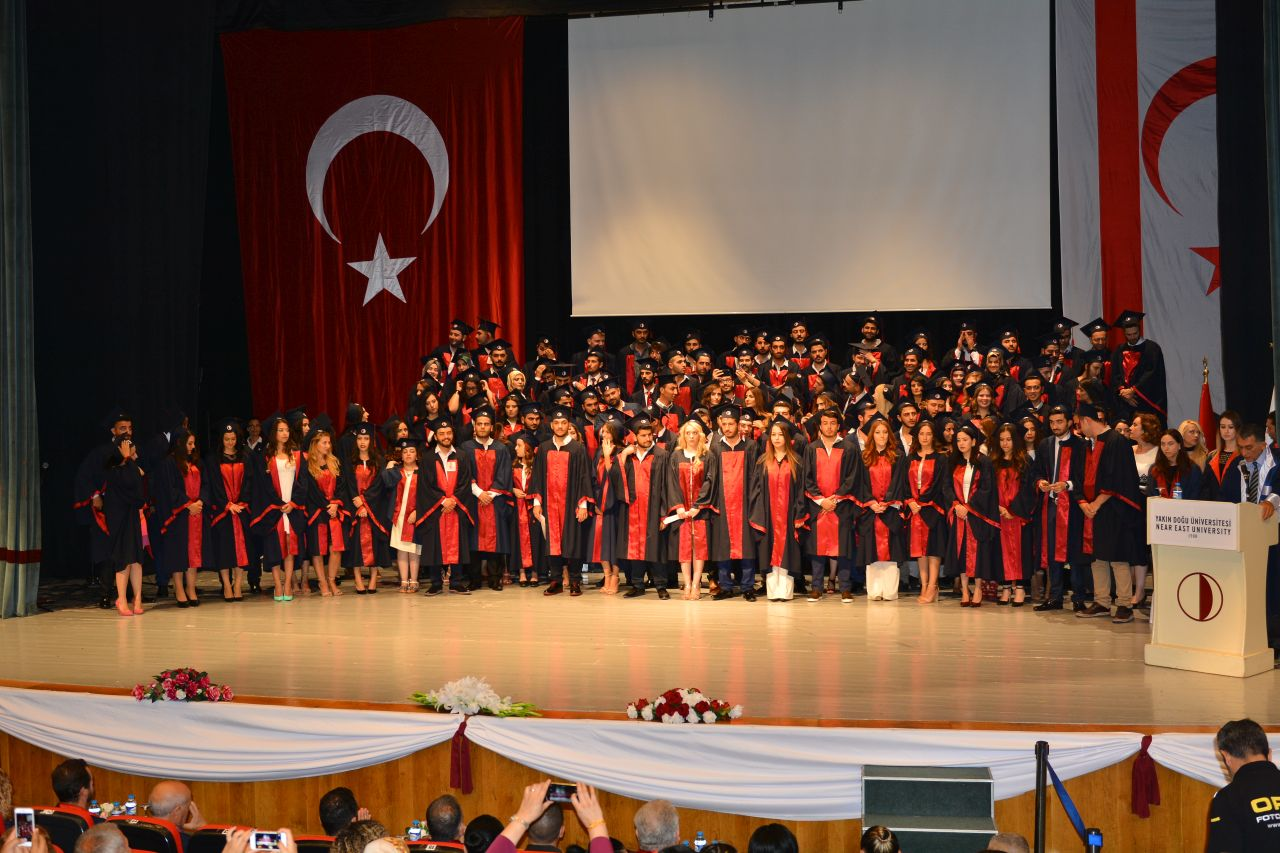 After taking the Hippocratic Oath for Dentistry, Near East University Faculty of Dentistry Graduates received their diplomas
