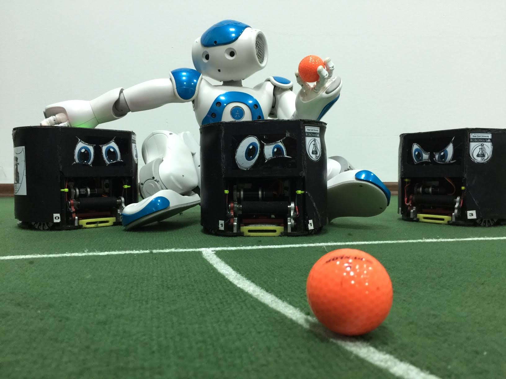 NEUIslanders Robot Football Team is making final preparations before the World Championship