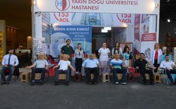 """YDÜ Hastanesi """"Kan Bağışı, Can Bağışı"""" Kampanyasını Fuarda Başlattı"""
