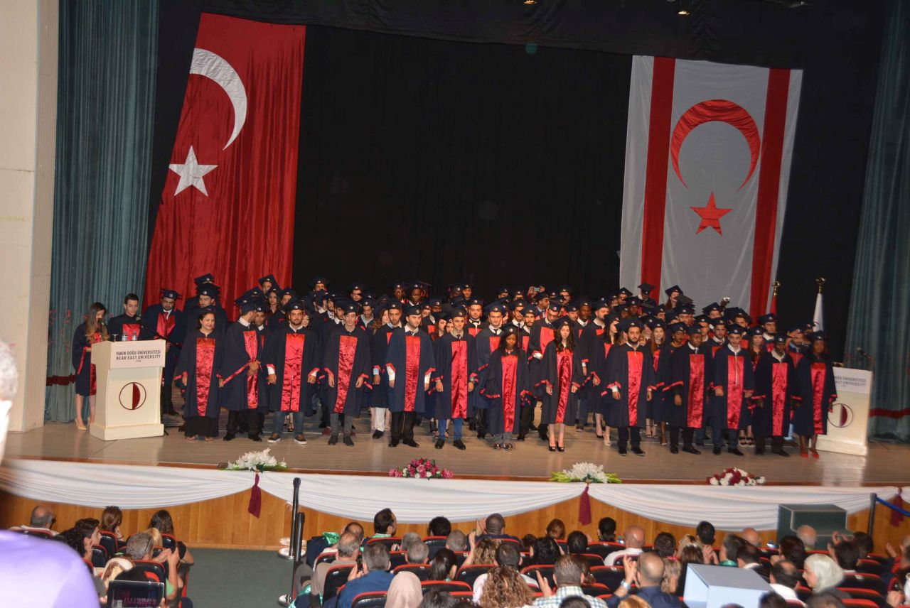 The Graduation Ceremony of the Near East University Faculty of Economic and Administrative Sciences has been realised in great joy