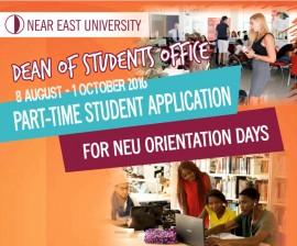 Öğrenci Dekanlığı Oryantasyon Günleri, Öğrenci Asistan Başvuruları