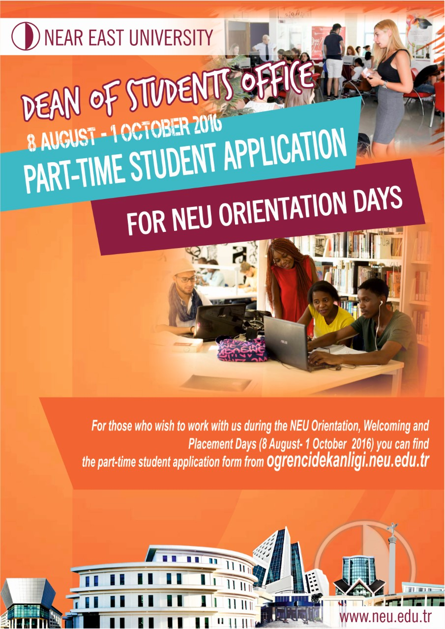 Dean of Student Office, Part-Time Student Application for Orientation Days