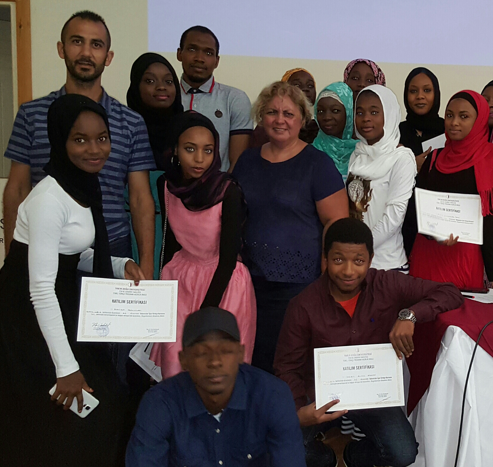 Trainees that participated in Near East University Turkish Summer School program received their certificate