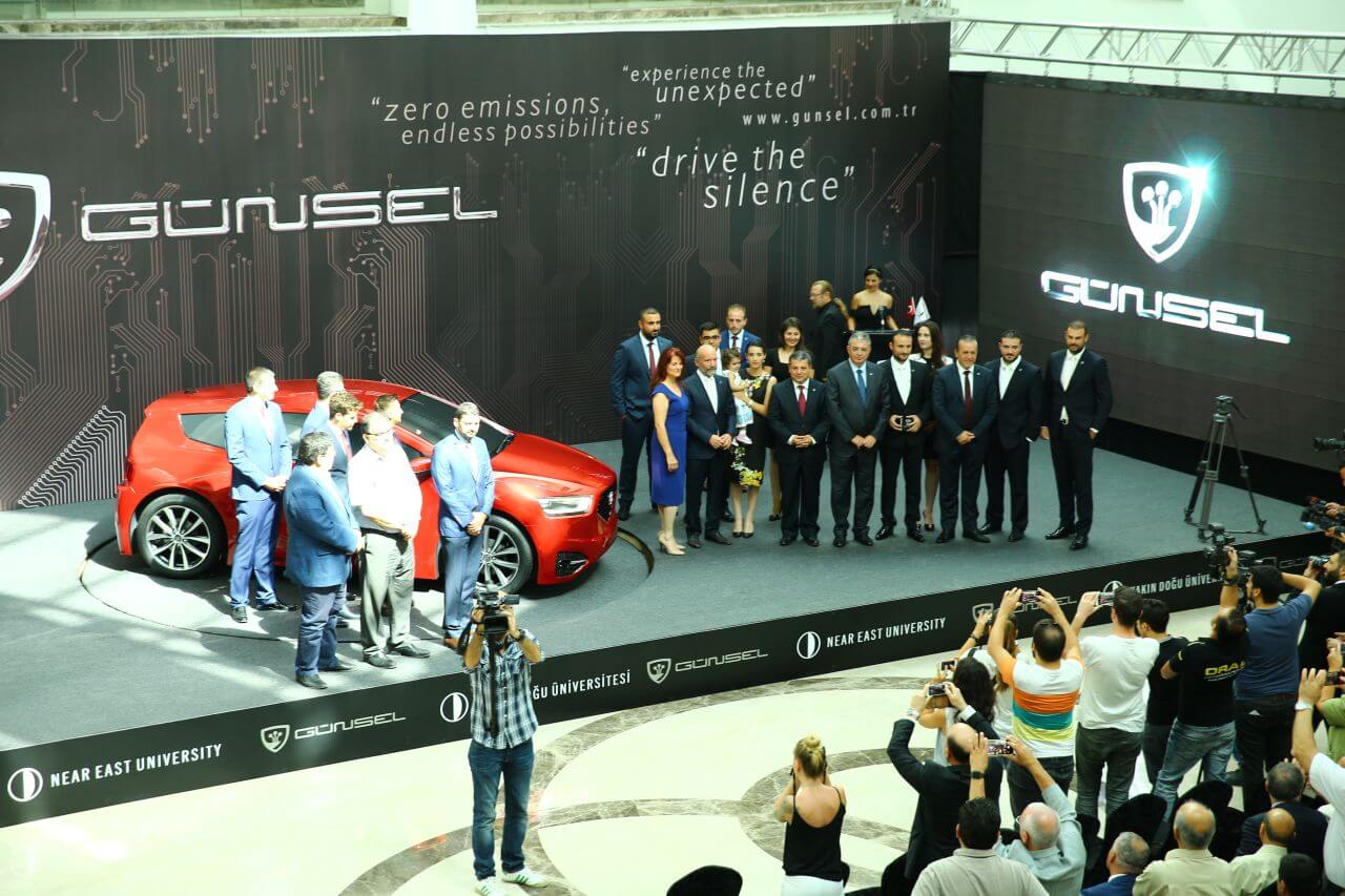 """GÜNSEL"", The First Domestic Car of TRNC introduced"