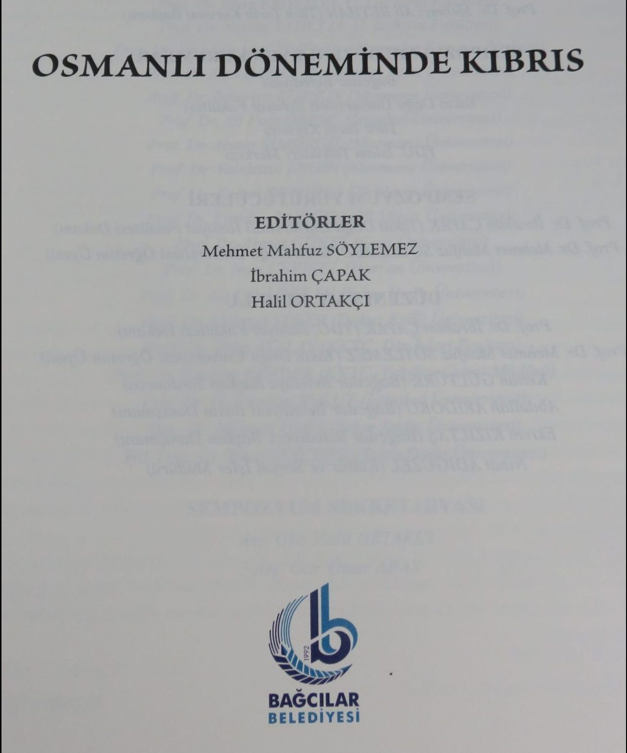 "International Symposium of ""Cyprus in Ottoman Era"" published into a book"