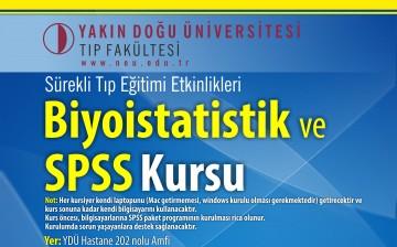 """YDÜ Tıp Fakültesi, Sürekli Tıp Eğitimi Etkinlikleri: """"Biyoistatistik ve SPSS Kursu"""""""