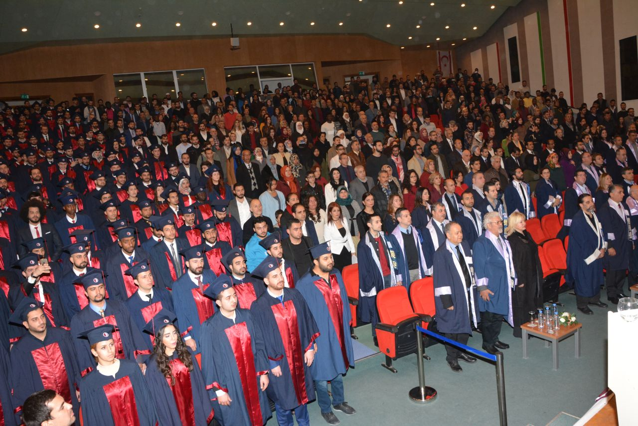 The Graduation Ceremony for the Fall Term of 2016-2017 of the Near East University Faculty of Engineering has been realized with intensive participation