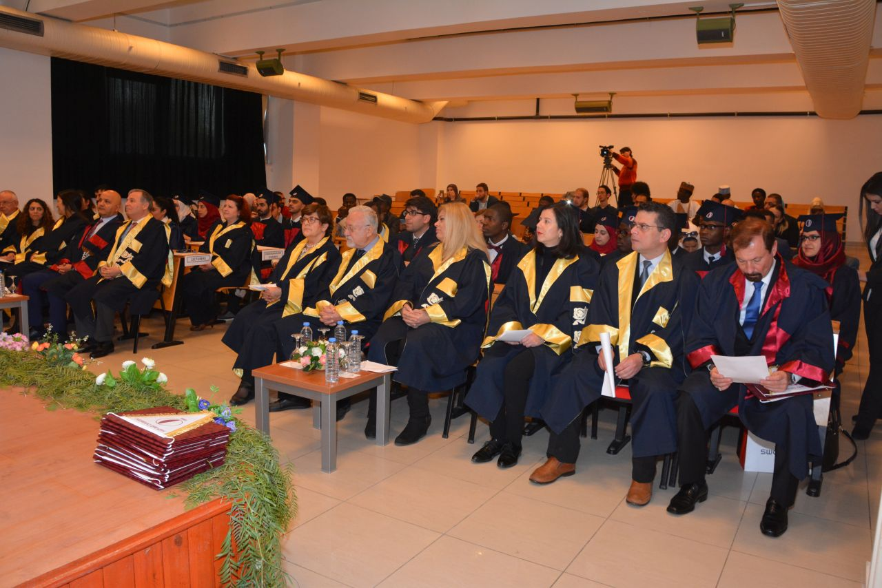 Near East University Faculty of Pharmacy graduates received their diplomas with joy at the graduation ceremony