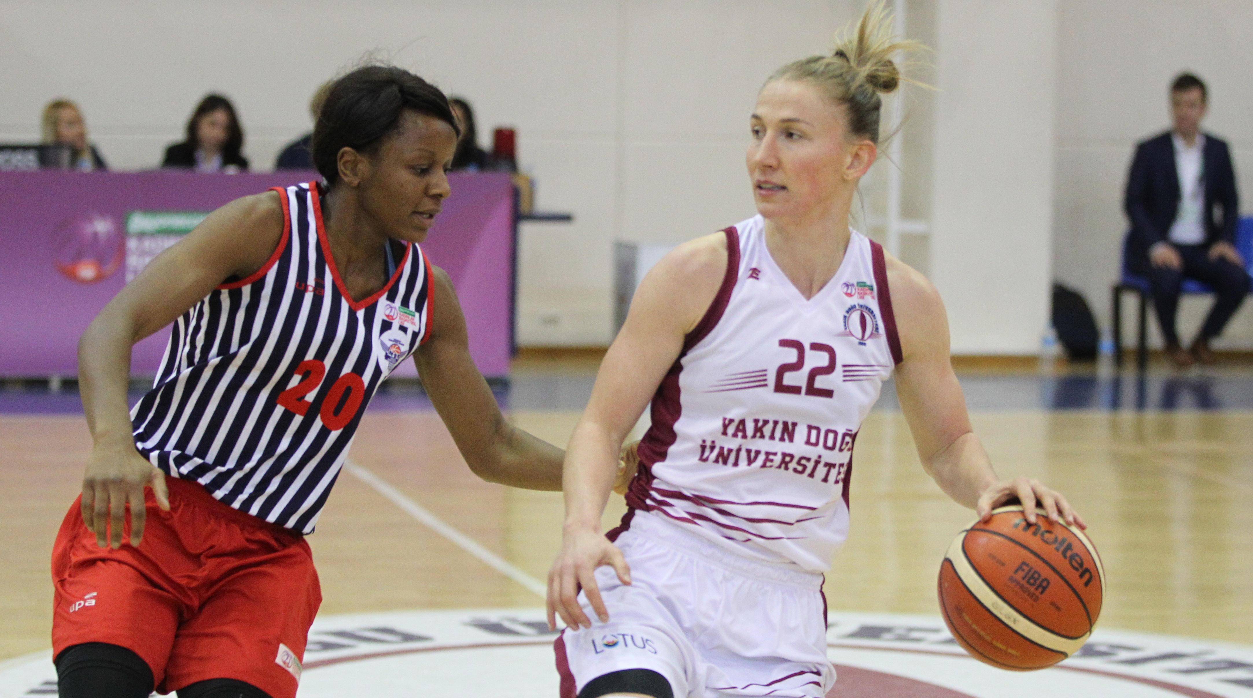 Near East University outscored MBK by doubling up the score… Near East University: 70 – MBK Doğuş Hospital: 34