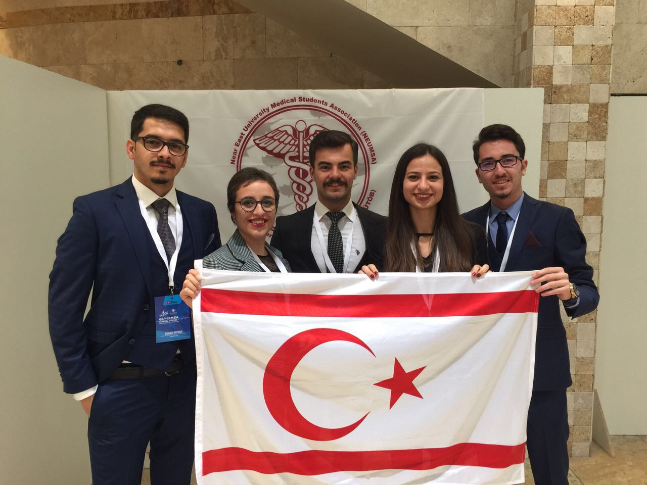 Near East University Medical Students' Association represented our country on an International Platform