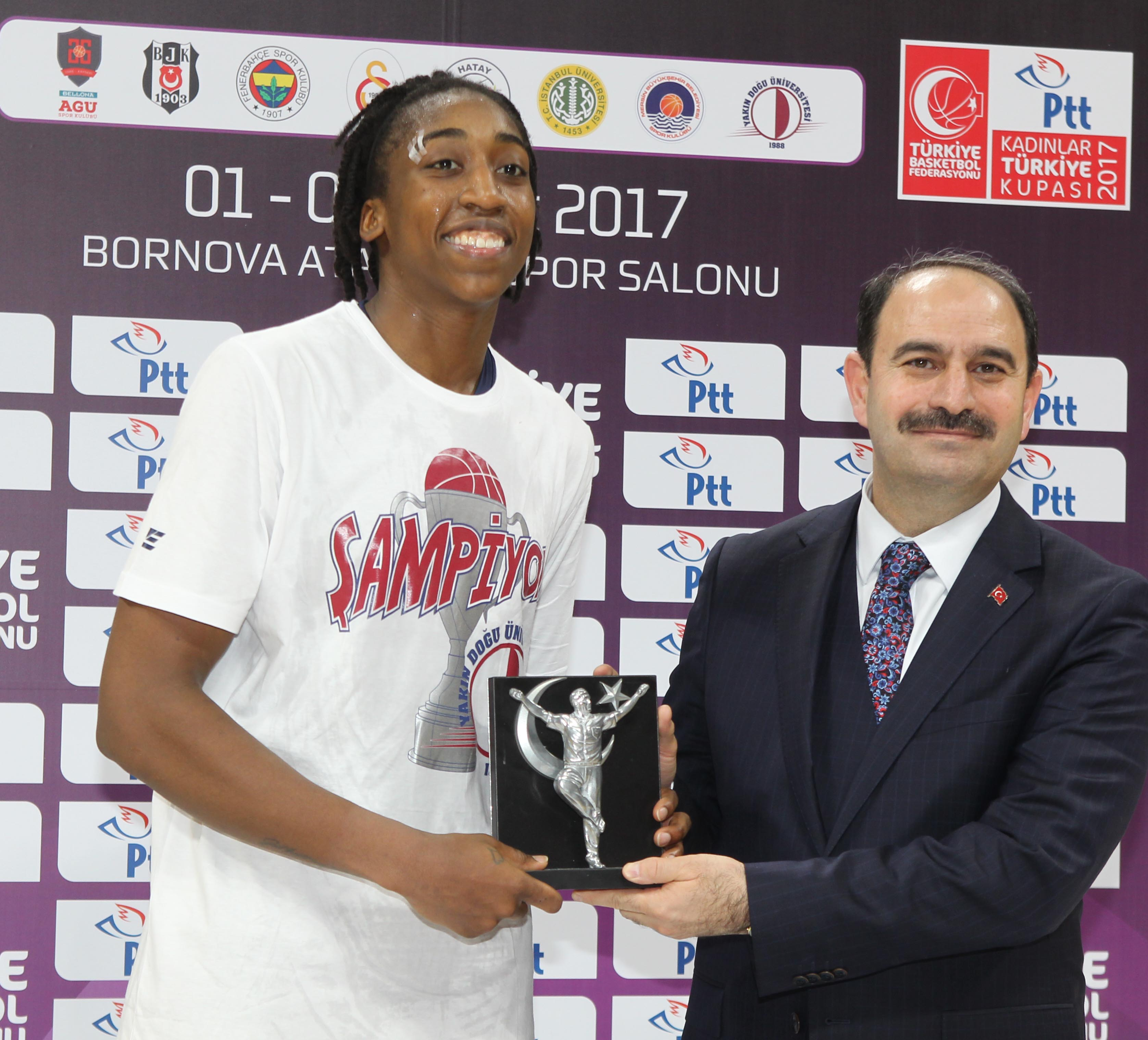 Carry over the one … Turkey Women's Cup Champion Near East University … Bellona AGÜ: 61 – Near East University: 77