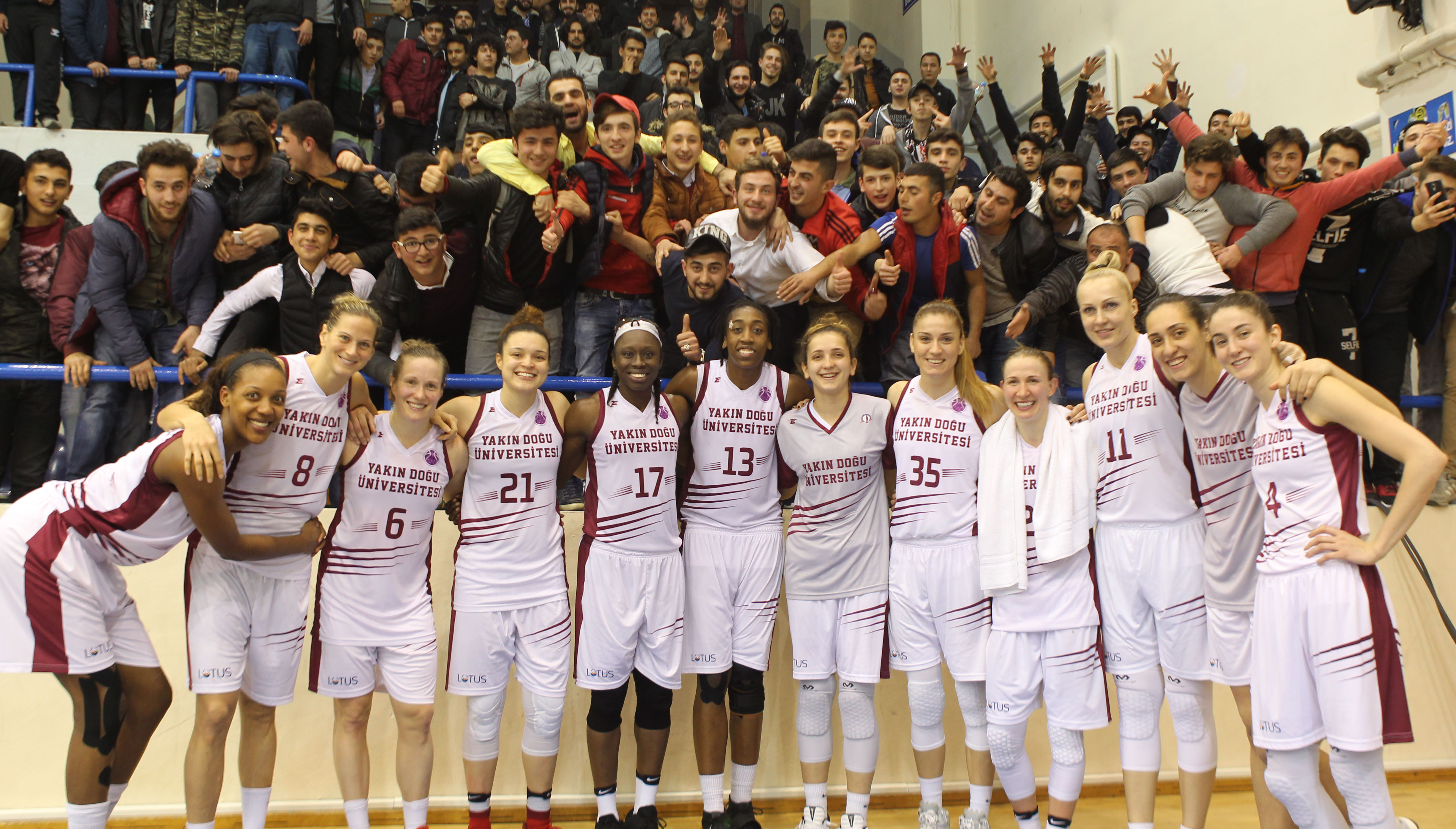 Step by step to cup in Europe … Near East University: 73 – Esbva-Lille: 61