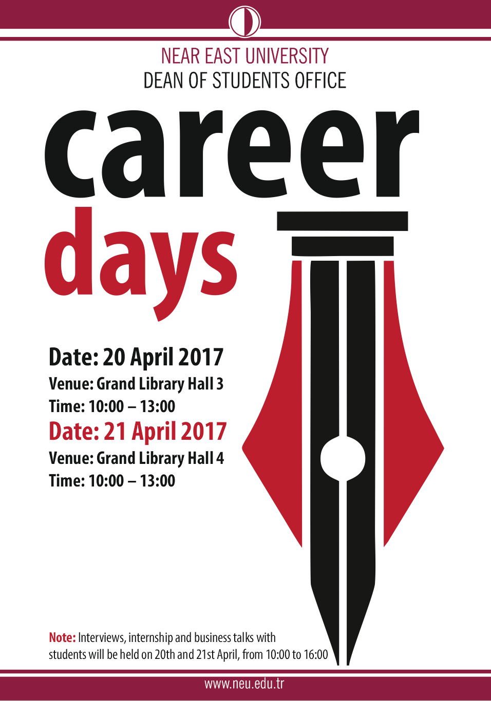 "20-21 April 2017 ""II. NEU Career Festival"""