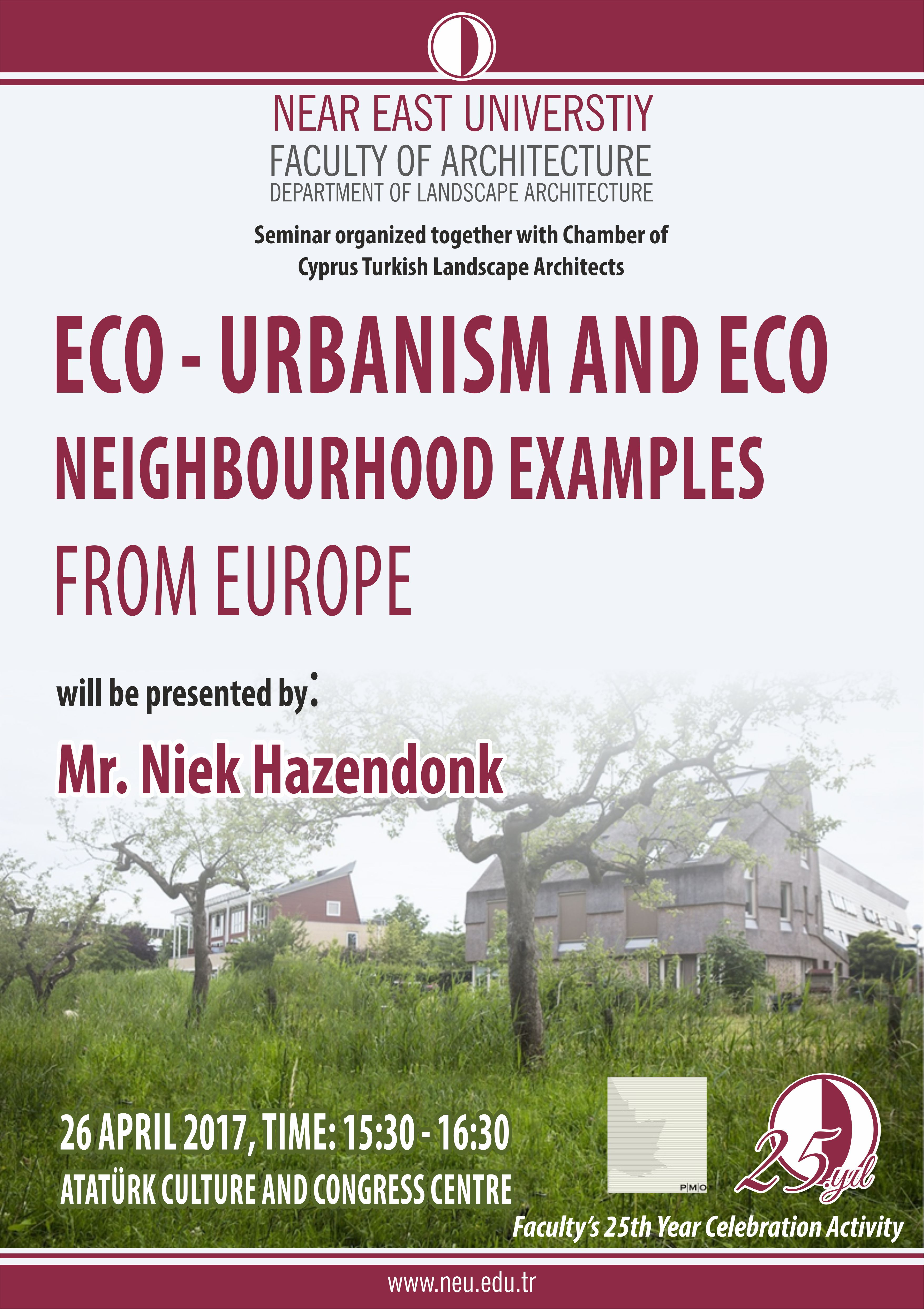 """Eco – Urbanism and Eco Neighbourhood Examples From Europe"" Seminar"