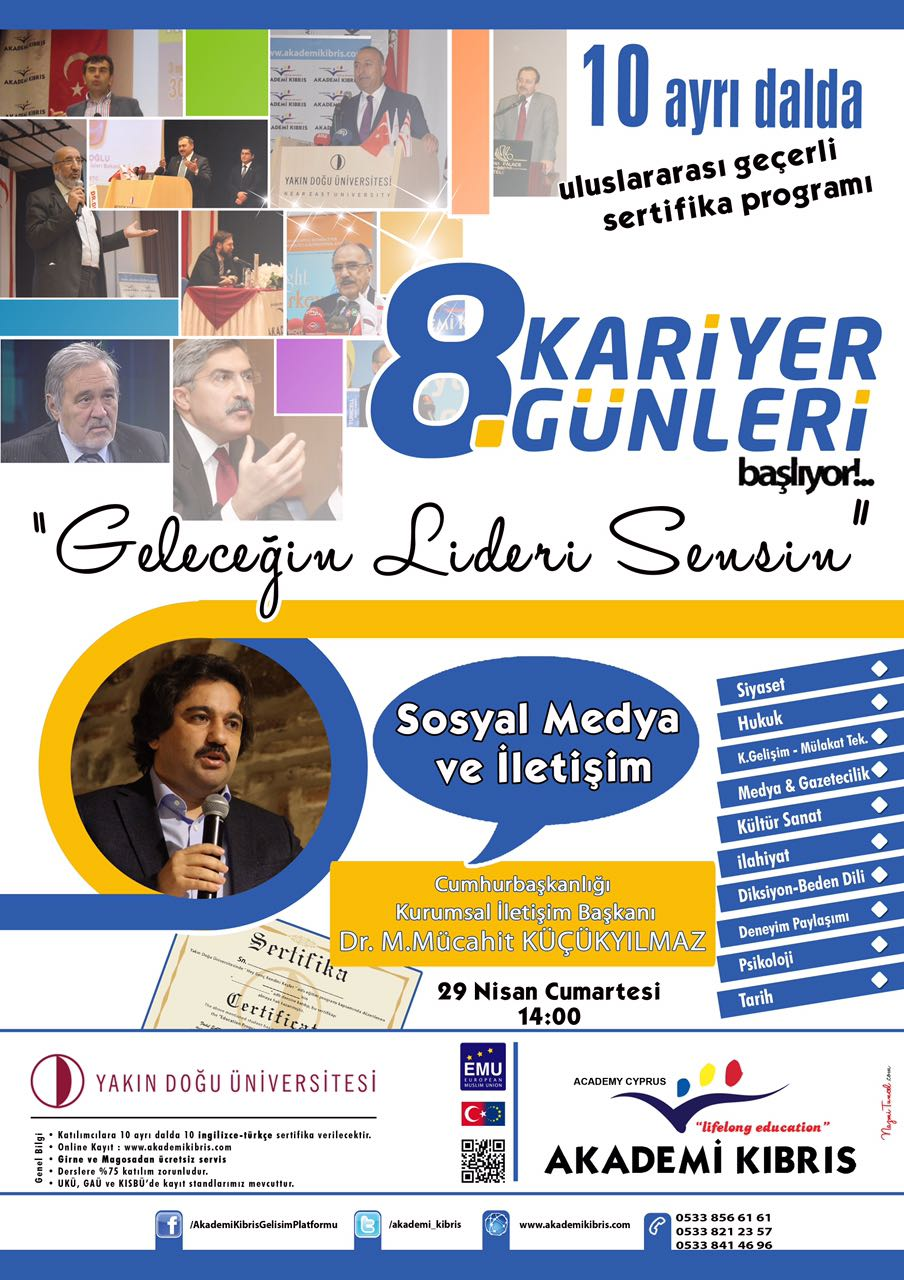 Near East University welcomes Dr. M. Mujahid  Küçükyılmaz, Head of Corporate Communications of Turkey Presidency within scope of Awareness Seminars held in cooperation Academy Cyprus Development Platform Cooperation