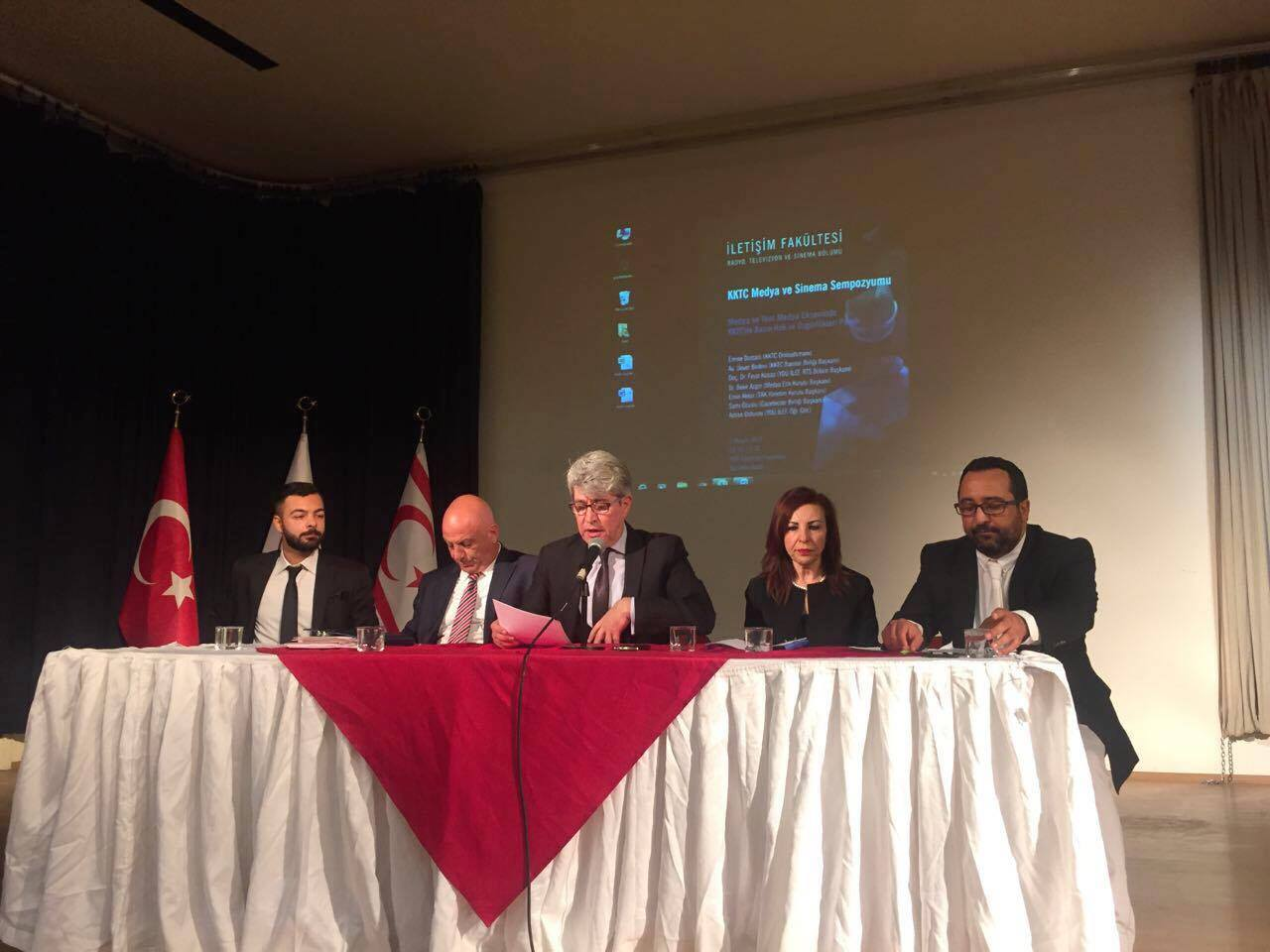 "A Panel titled as ""Freedom and Rights of Press in the Media and New Media Axis in Turkish Republic of Northern Cyprus"" was realised at Near East University"