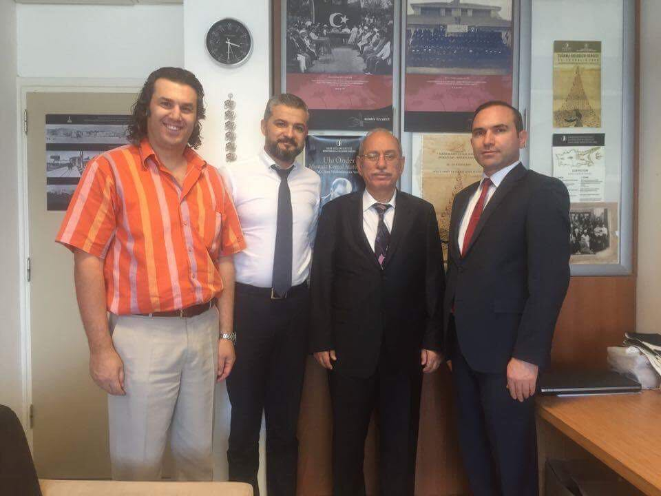 Prof. Dr. Refik Turan, President of the Turkish Historical Society, visited the Near East University
