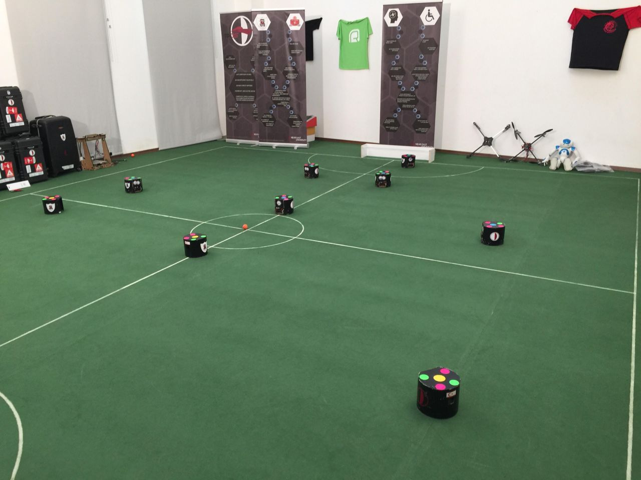 Near East University Robotics Soccer Team is practicing its final trainings for World RoboCup 2017