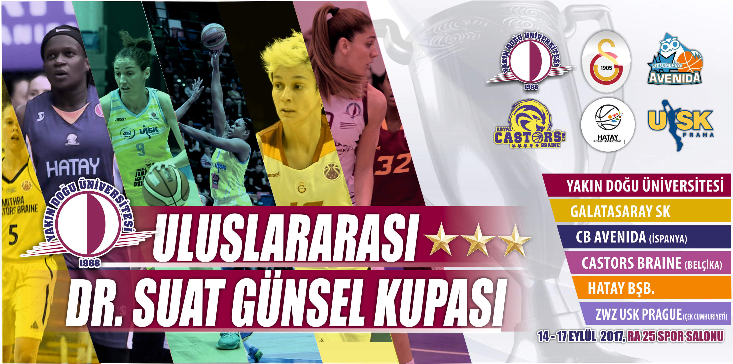 The fixture for the International Dr. Suat GÜNSEL Basketball Tournament has been drawn….  The tournament begins with Galatasaray – CB Avenida match