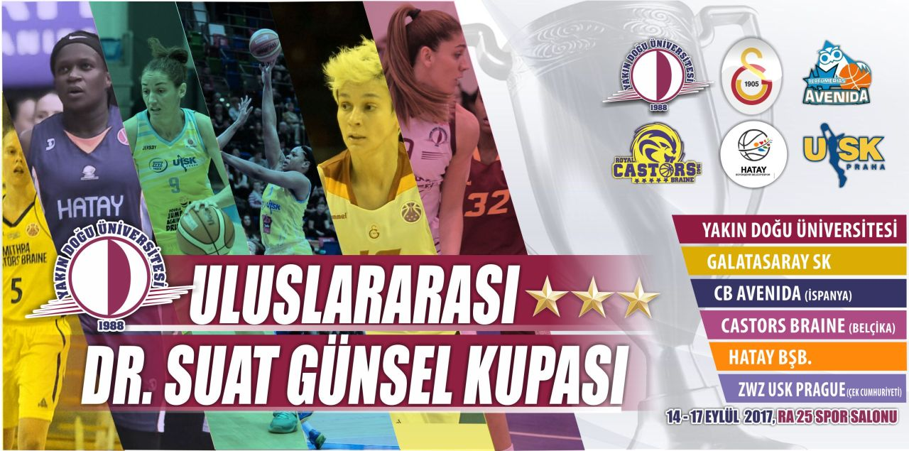 World Renowned Stars of Women's Basketball will compete for Dr. Suat Günsel Cup at the International Basketball Tournament to be held in Northern Cyprus