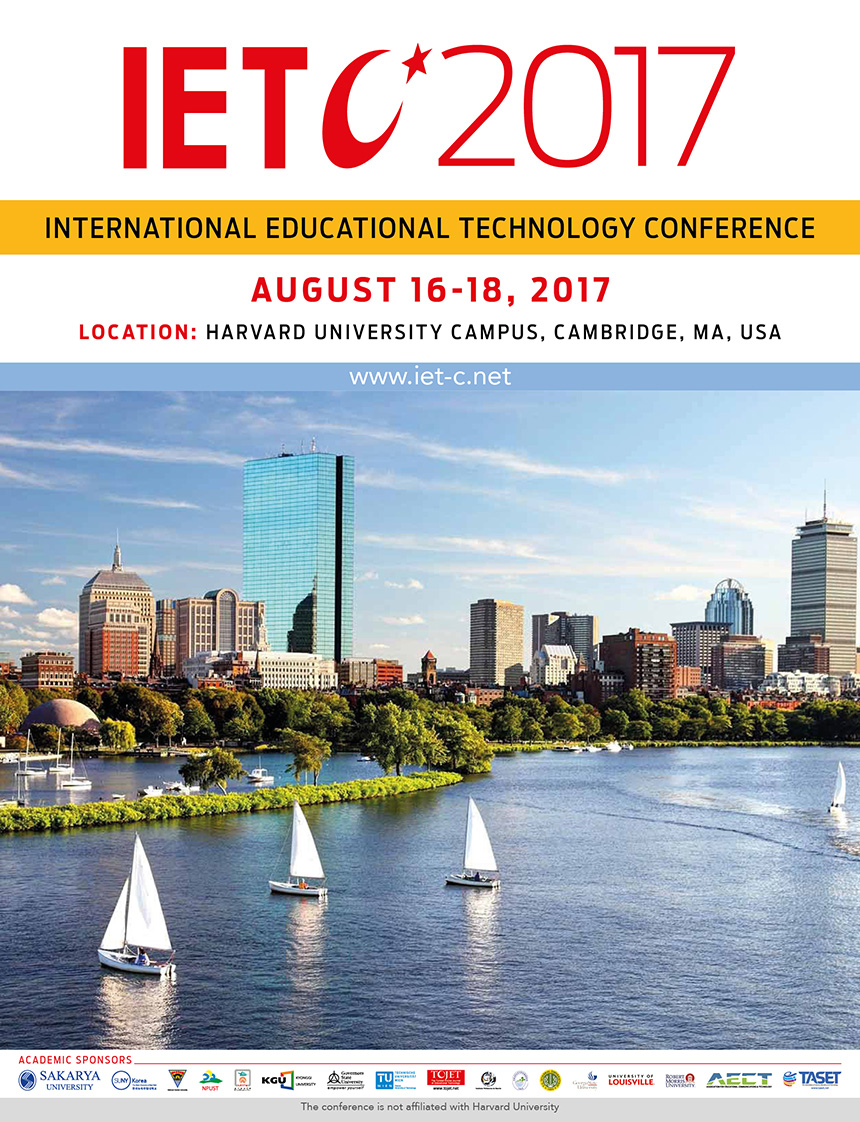 Near East University Faculty of Communication has been represented at Harvard University at the International Education Technology Conference (IETC-2017) via two presentations