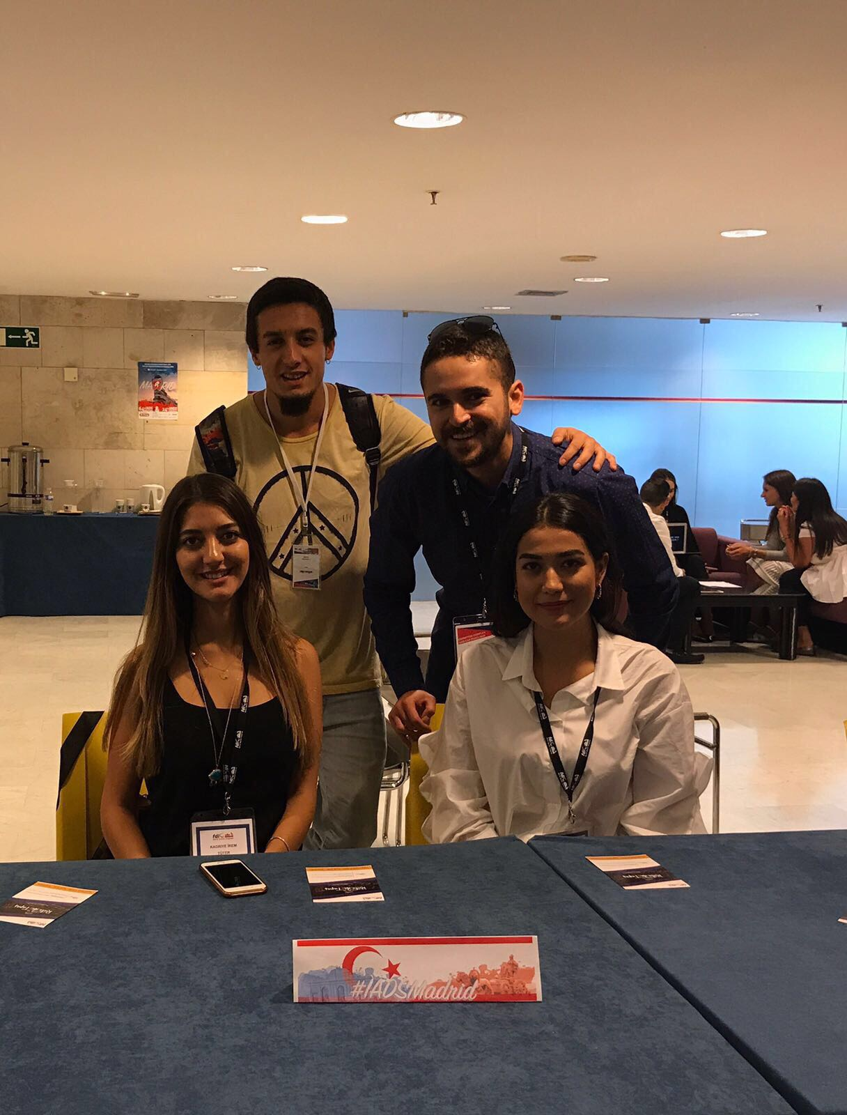 Participating in the Annual Meeting of International Association of Dental Students (IADS), the Near East University Represented Turkish Republic of Northern Cyprus in Madrid
