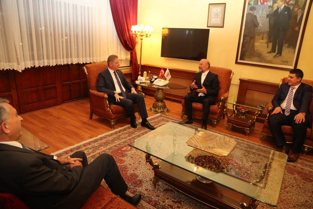 Near East University Founding Rector Dr. Suat İ.Günsel visited Sivas Governor Davut Gül, NEU graduate, at his office