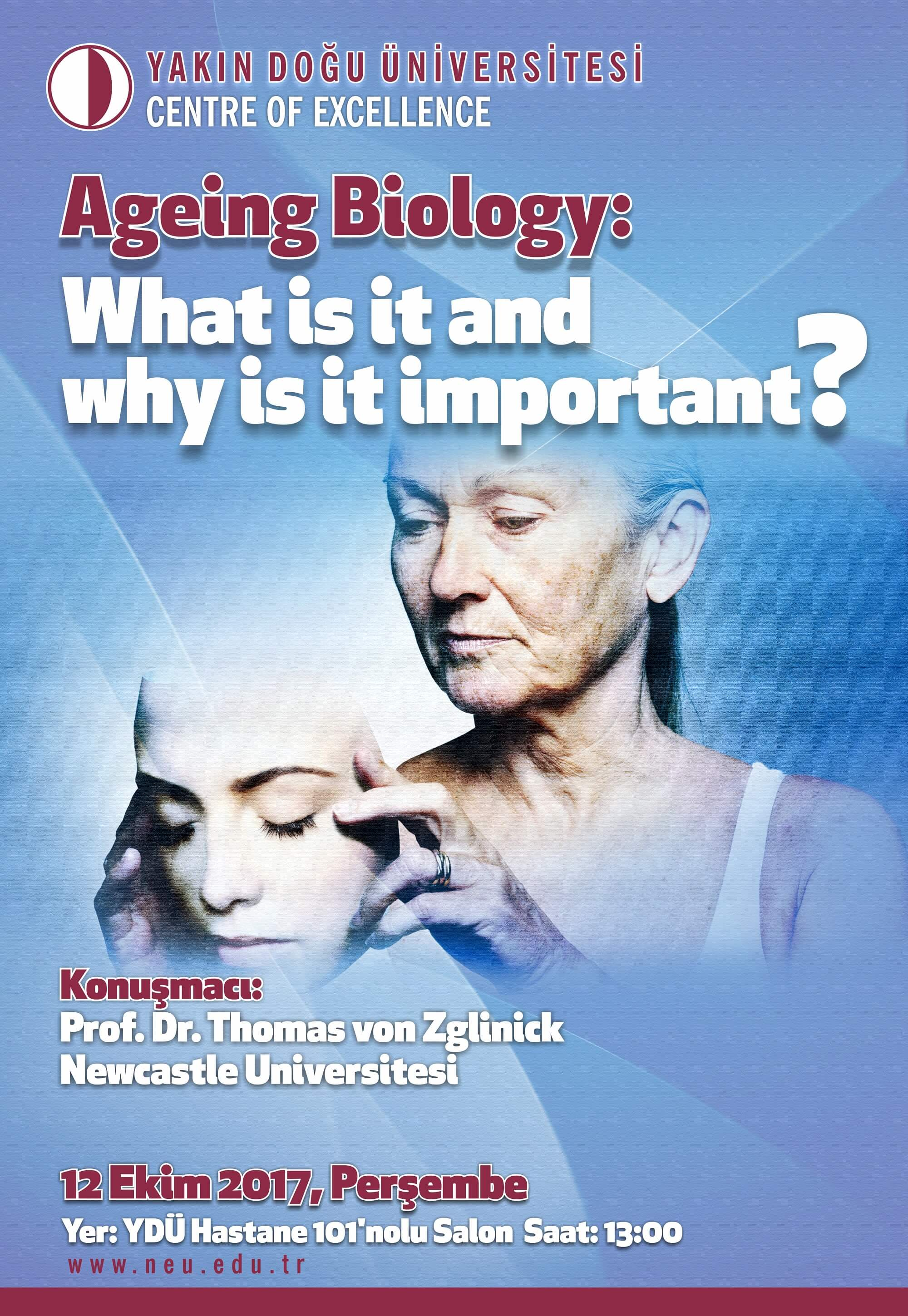 "Seminer ""Ageing Biology: What is it and why is it important?"""