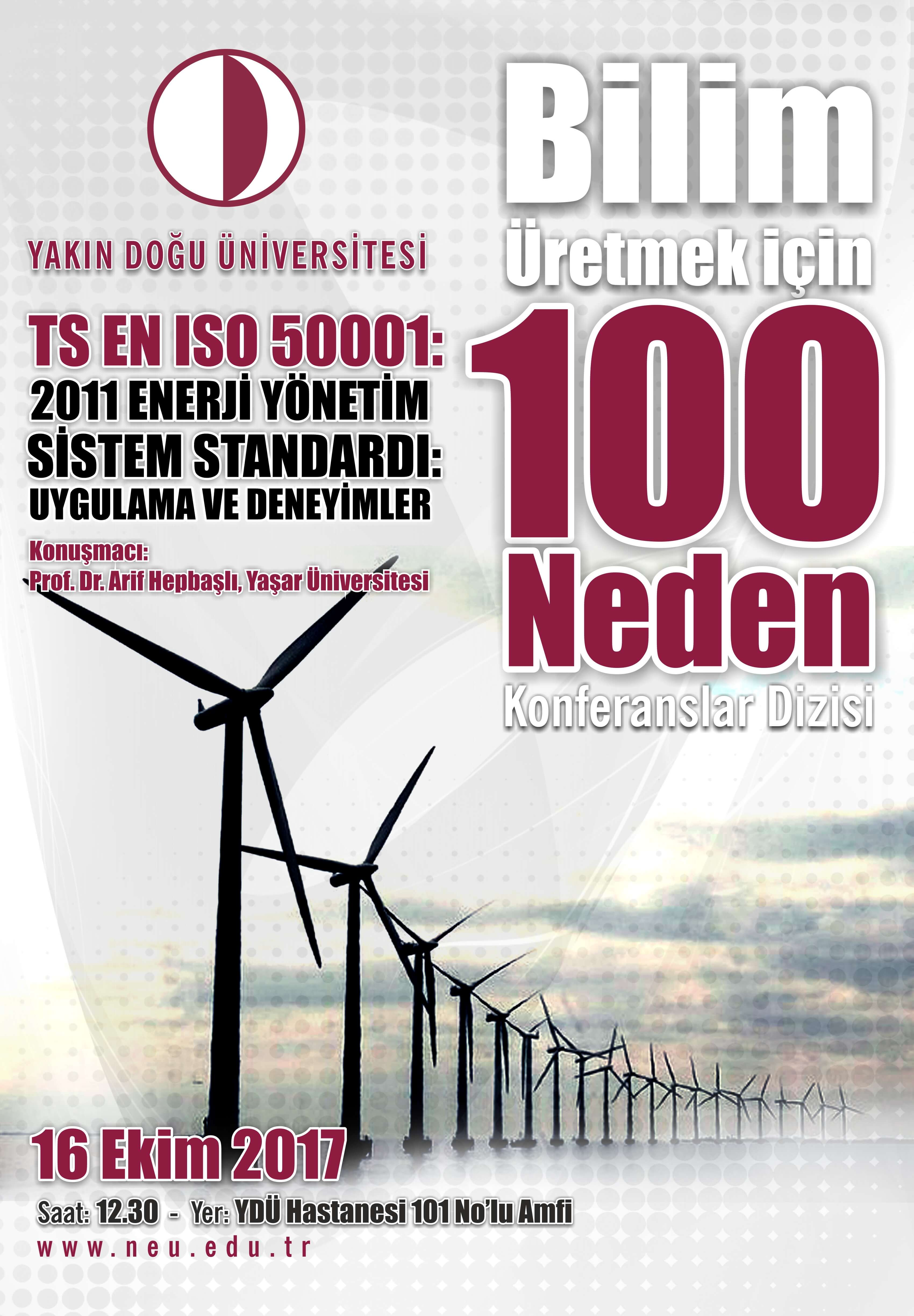"Conference Series on ""100 Reasons to make Science"" continue with Prof.Dr. Arif Hepbaşlı"