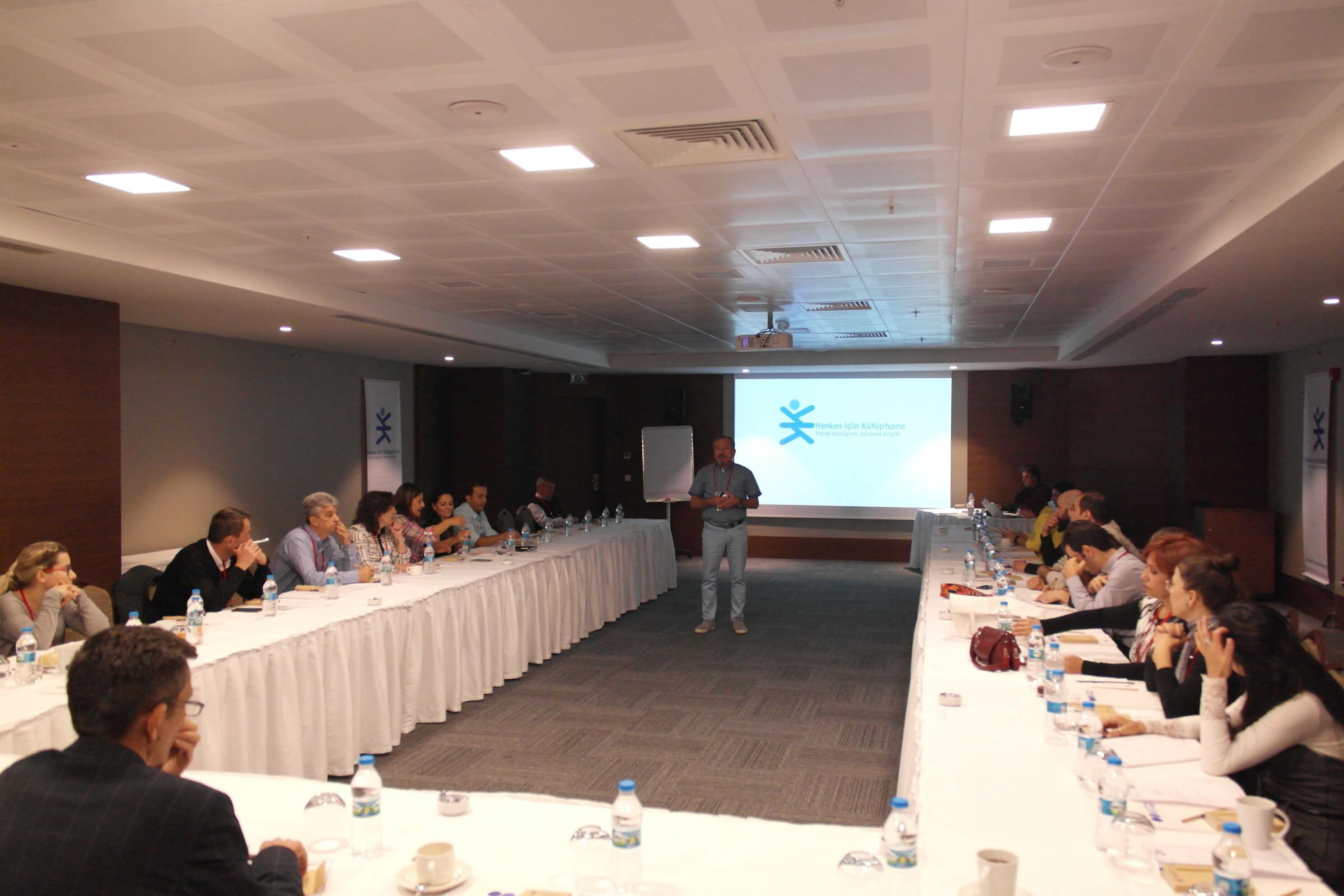 "The Group Meeting of the Stakeholders of the project ""Library for All"", of which the Near East University is a stakeholder as well, was held in Ankara"