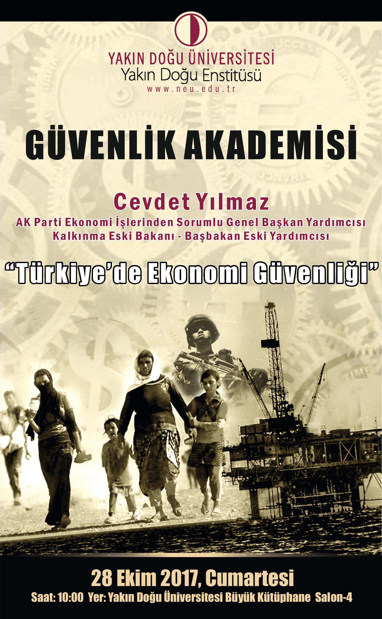 Cevdet Yilmaz to speak at Near East University Security Academy