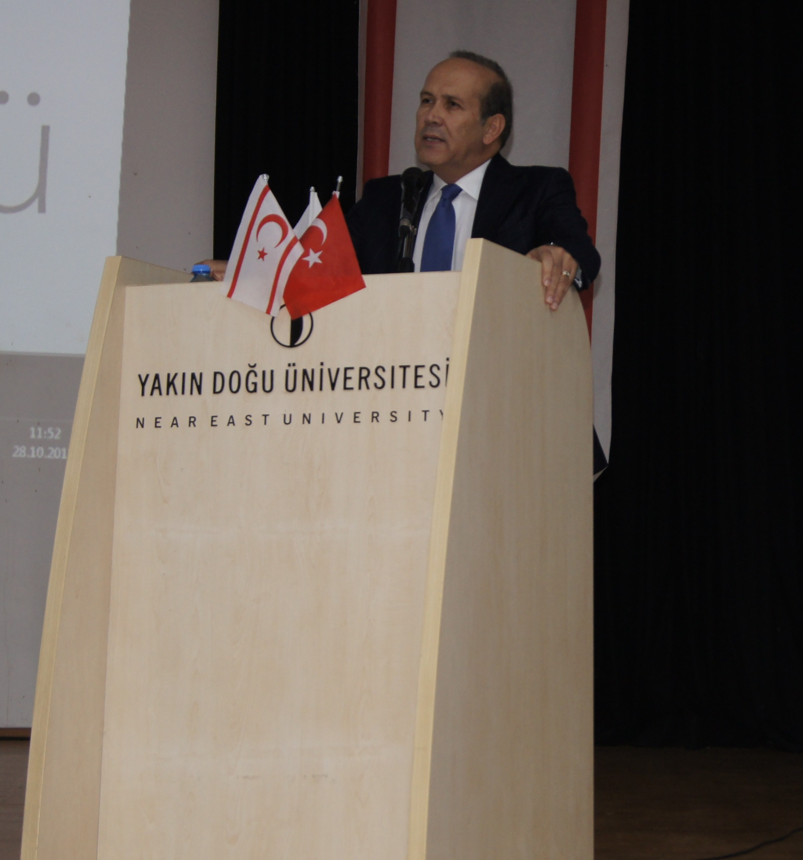 Participating in the Security Academy Certificate Program organized by the Near East University Near East Institute, Mr. Namık TAN addressed the crisis encountered in Turkey-USA relations and its impact on TRNC