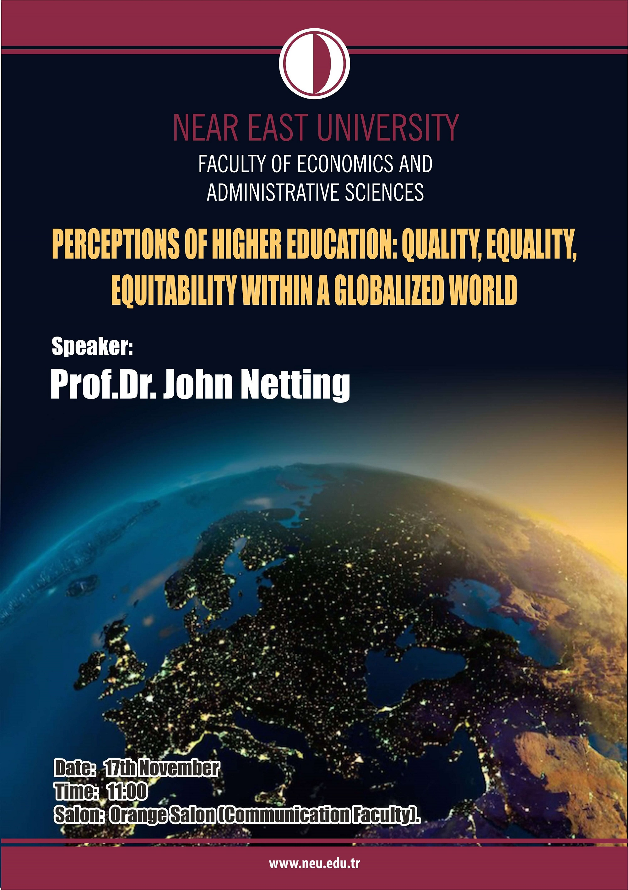 Perceptions of Higher Education: Quality, Equality, Equitability within a Globalized World