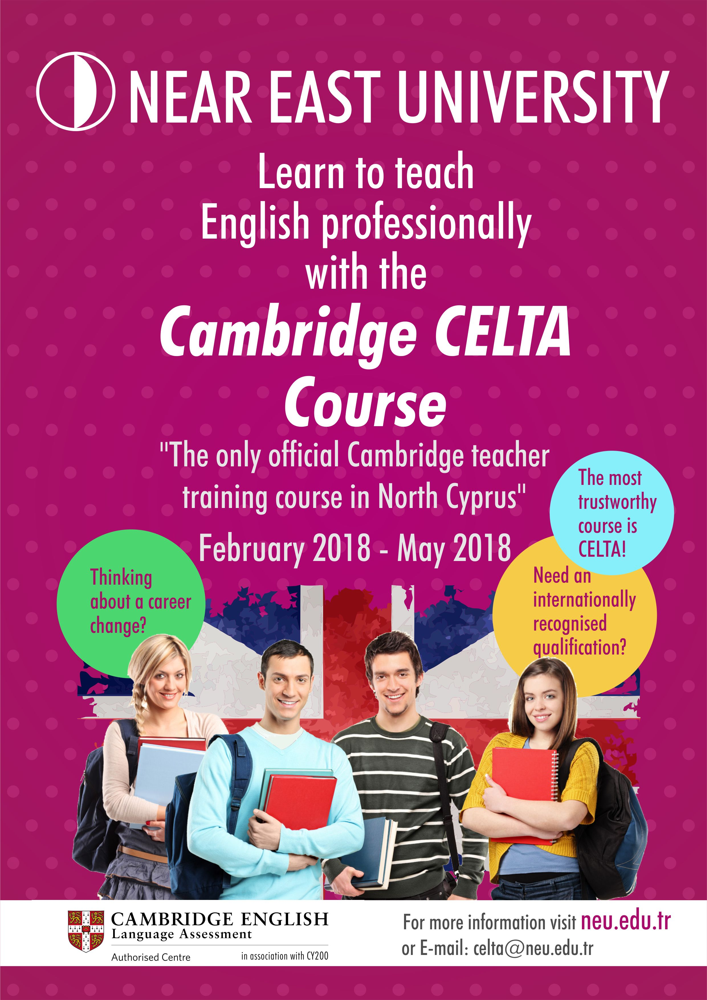 Certificate in Teaching English to Adults (CELTA) program is being given at Near East University