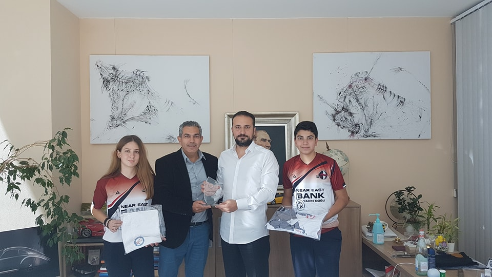 Badminton Federation of the Turkish Republic of Northern Cyprus presented a plaque of thanks to Assoc. Prof. Dr. İrfan S. Günsel