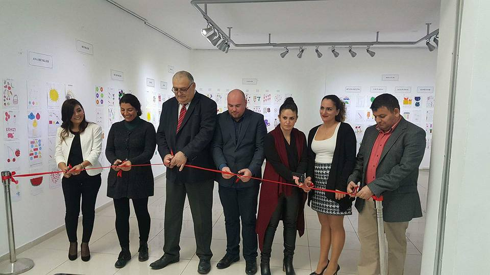 An Exhibition to exhibit the Near East University Atatürk Faculty of Education students' projects has been realised