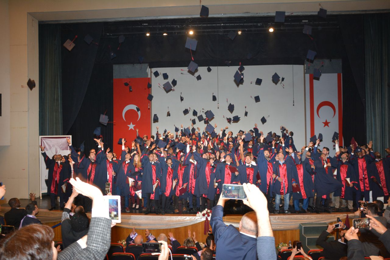 Near East University Department of Civil Engineering 2017 – 2018 Fall Semester Graduation Ceremony was realized