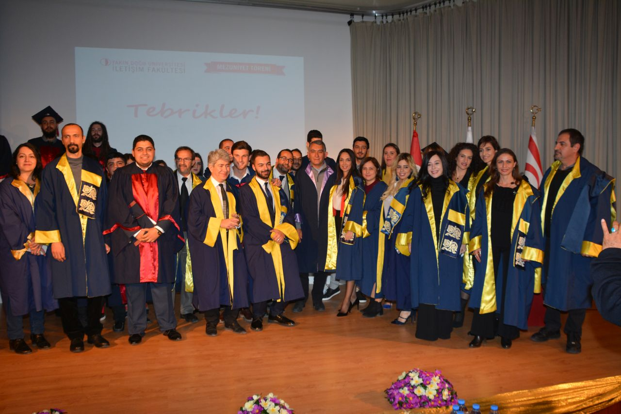 2017-2018 Fall Semester Graduates of Faculty of Communication of the Near East University received their diplomas