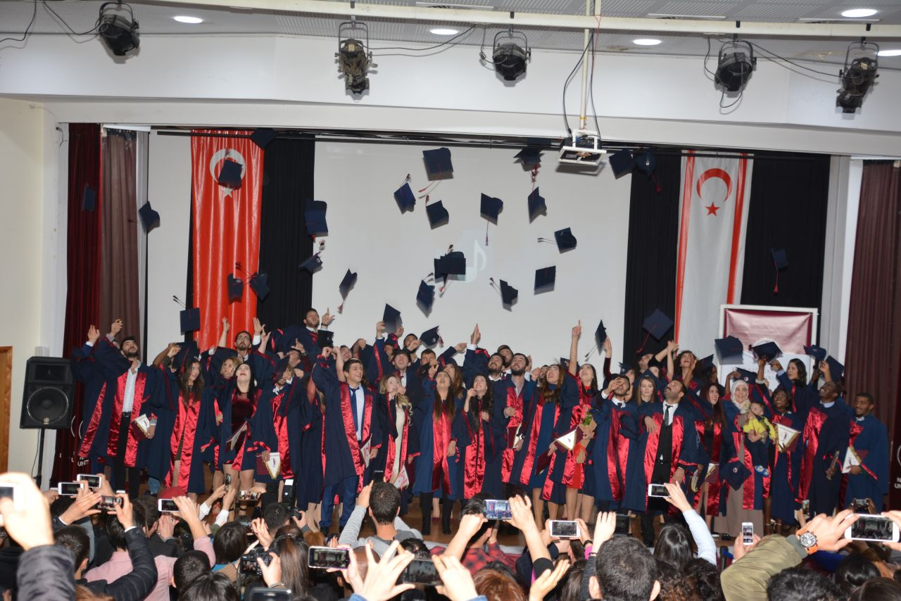 Near East University Faculty of Arts and Sciences 2017 – 2018 Fall Semester Graduation Ceremony was held with intensive participation