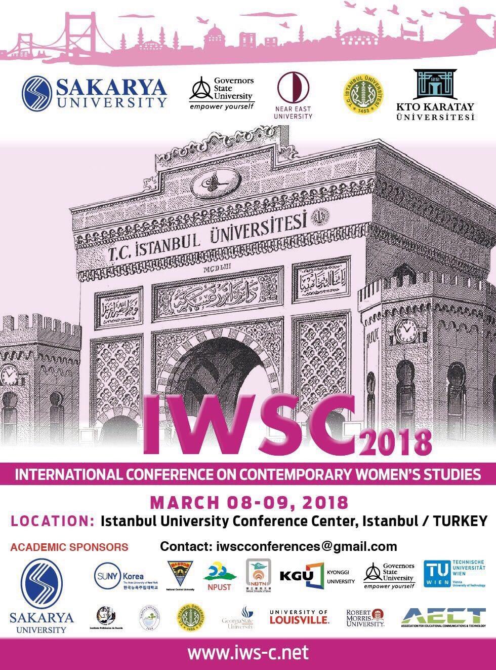 "IWSC 2018 ""International Conference on Contemporary Women's Studies"" MARCH 08-09,2018"