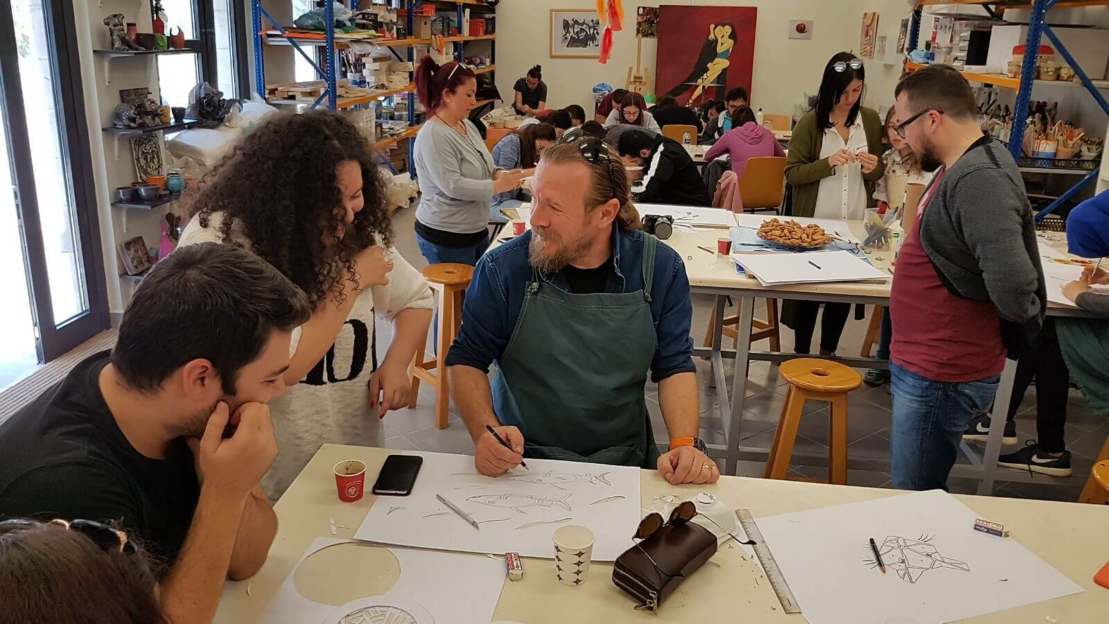 Academic Member of the Near East University Faculty of Fine Arts and Design, Assoc. Prof. Dr.Erdoğan Ergün, realised an Artistic Workshop at the METU MarchFest Culture and Art Festival